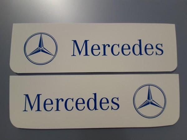 Spatlappen voorkant 18x60cm Mercedes wit blauw set van 2