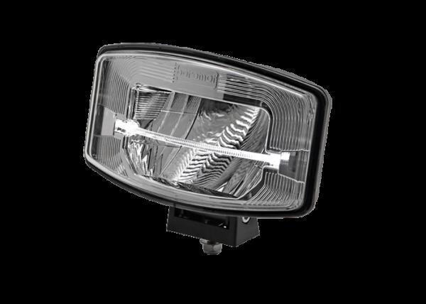 Rechthoekig/ovale FULL LED verstraler zilver reflector