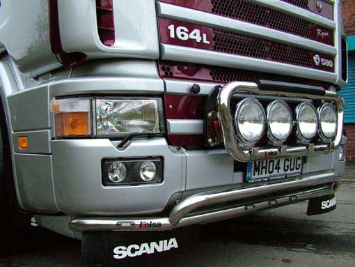 4 Series Lobar Plastic Bumper with White LEDs Rvs