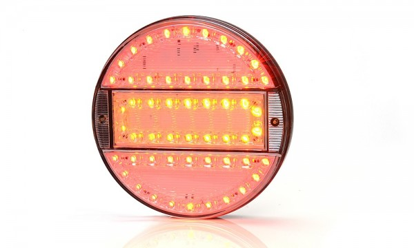 3-chamber taillight led 12v-24v clear