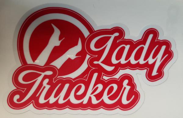 Sticker Lady trucker