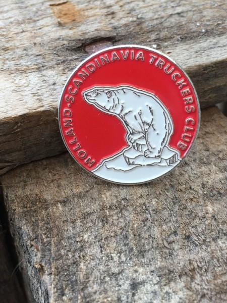 Pin Holland-Scandinavia Truckers Club (rood)
