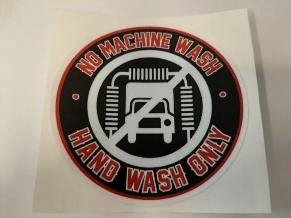 Sticker No machine wash - Hand wash only