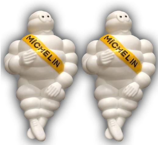 Oldskool Michelin poppen zonder verlichting (set 2 stuks)