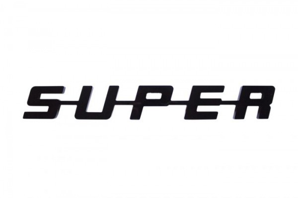 super logo kunststof - zwart