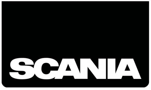 Spatlap voorbumper zwart + Scania wit