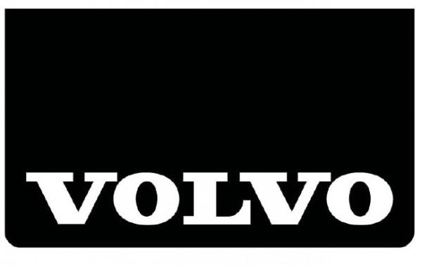 Spatlap voorbumper zwart + Volvo wit