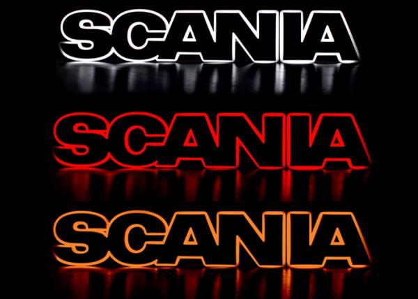 Scania embleem verlicht