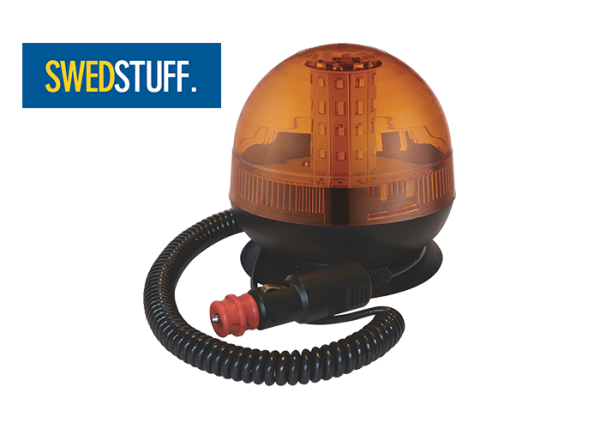 LED flashing light, magnetic mount
