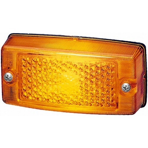 Hella zijmarkeringslicht oranje met reflector inbouw