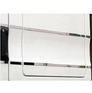 RVS applice zonder zwarte folie voor korte cabine