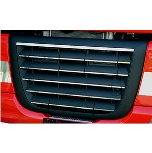 Stainless application under grille DAF XF 105 for unpainted grill