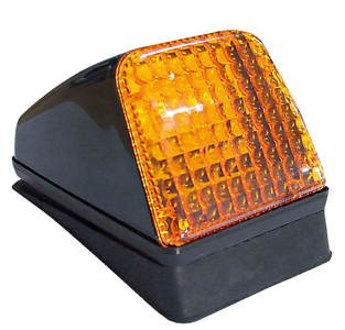 Volvo top light with base and orange lens