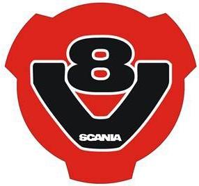 Logo V8 red black