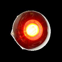 LED interieurlamp ROOD rond 30mm 24v chroom rand