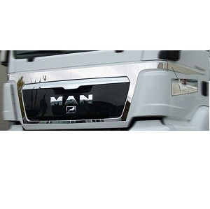 Stainless application upper grill + doors MAN TGS without MAN logos