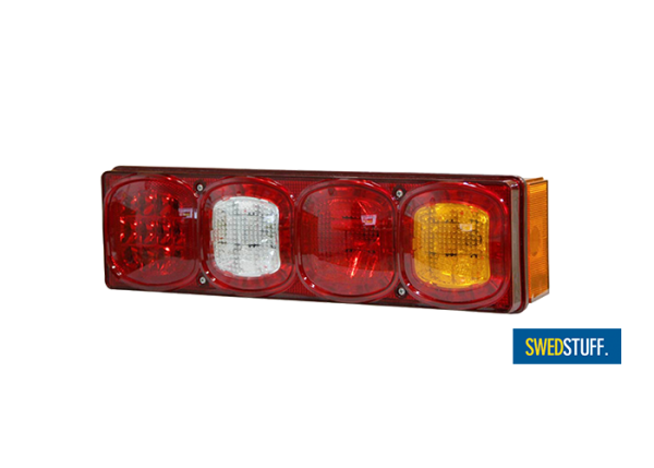 5-chamber tail light rectangle hybrid