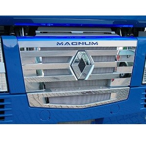 """""""DELUXE"""" Application RVS grille Renault Magnum 2008"""