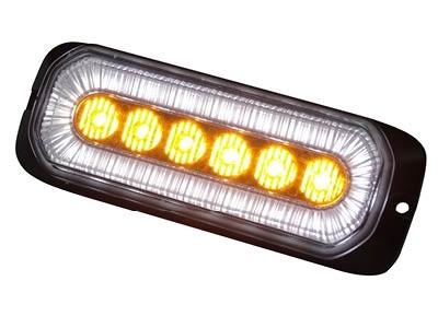 LED flitser 6-LED 12-24V oranje/wit