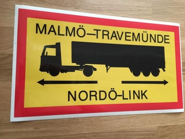 Malmö-Travemünde veerboot sticker (groot)