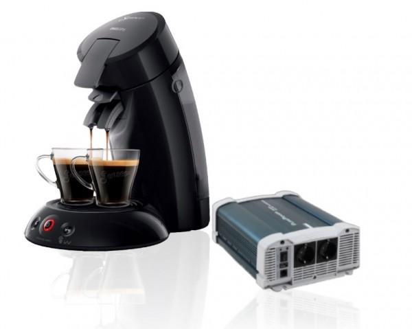 PROMO! Zuivere sinus omvormer PurePower 1500W + Senseo koffiezet