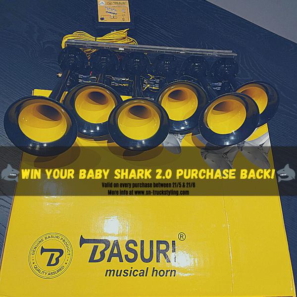 Basuri baby shark 2.0 airhorn - 19 Europese melodies