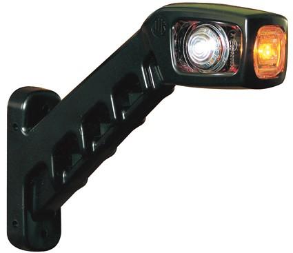 Red / white / orange LED width lamp 12-24V Left corner 185MM