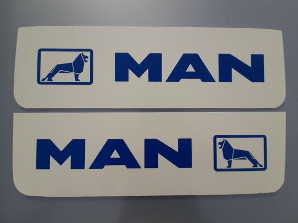 Spatlappen voorkant 18x60cm MAN wit blauw set van 2