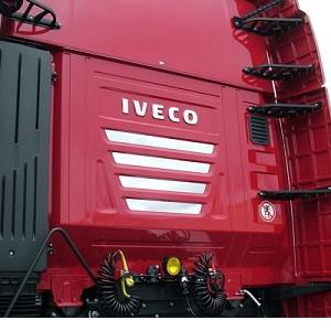 RVS applicatie voor achterkant iveco stralis cube