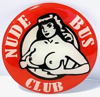 3D Naafsticker Nude Bus club