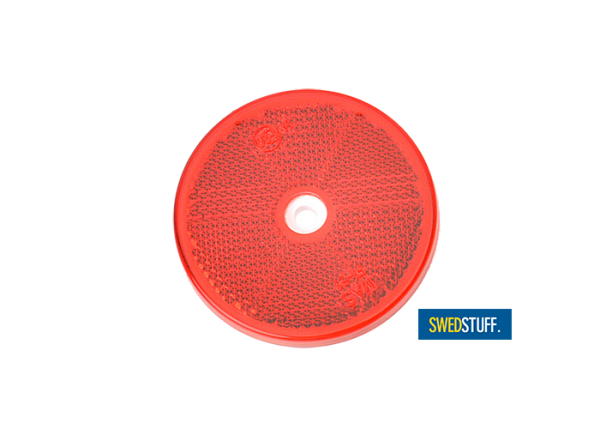 Round red reflector (4 pieces)