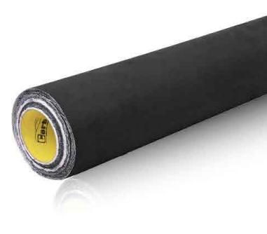 Zwart alcantara look folie - zelfklevend