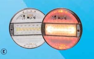 5 kamer achterlicht led 12v-24v helder