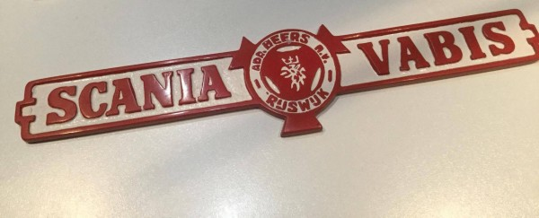Scania Vabis Sign Red White