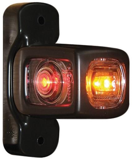Red / white / orange LED width lamp 12-24V short 84 mm left/right