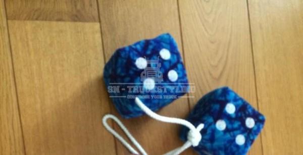 Blue Danish plush dice