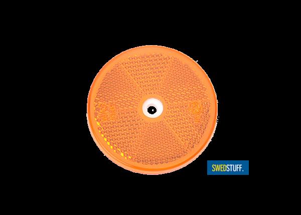 Reflector rond oranje (4 stuks)