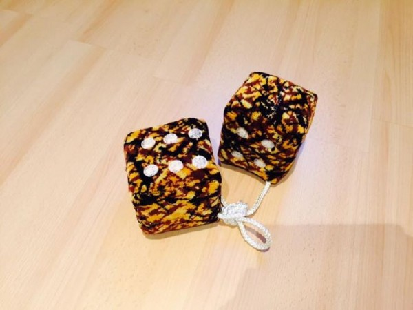 Danish dice danish yellow fabric