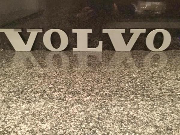 VOLVO logo steel letters