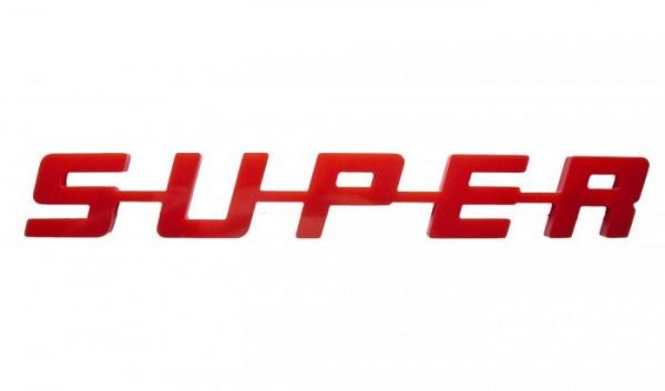 super logo kunststof - rood