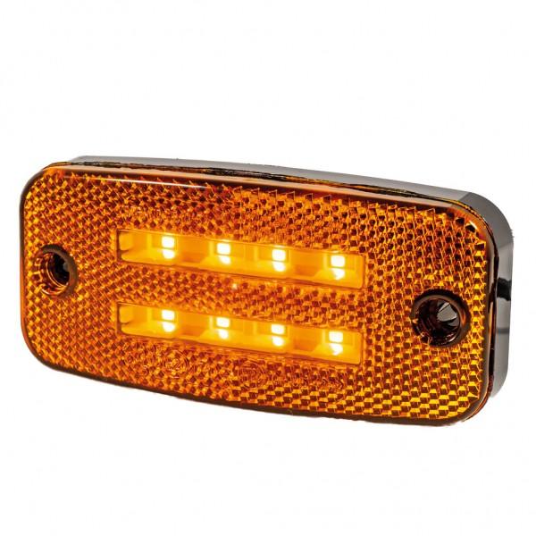 Zijmarkeringslicht/Richtingaanwijzer oranje dubbele lijn Led (810134-5)