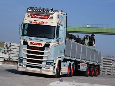 XL-zonnescherm Scania R/S Next Gen 30cm met 5 positielichten