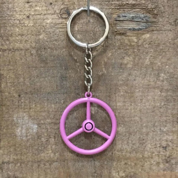 sleutelhanger roze stuur