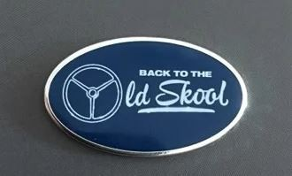 Pin ovaal - Back to the Old Skool 3 spaak